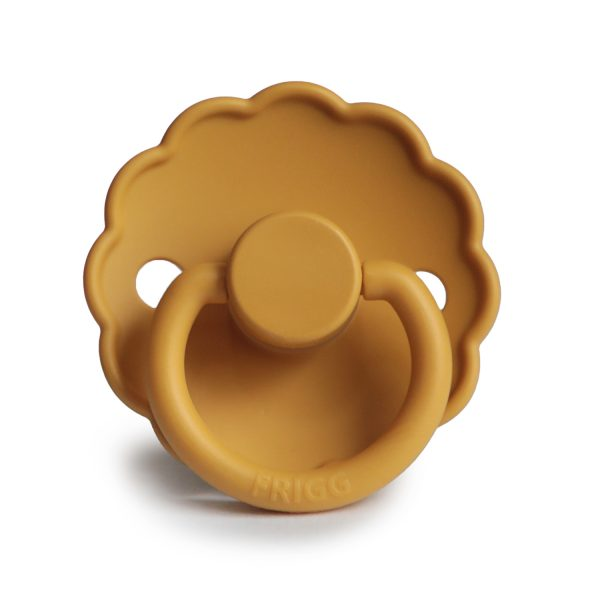 Front honeyGold daisy silicone